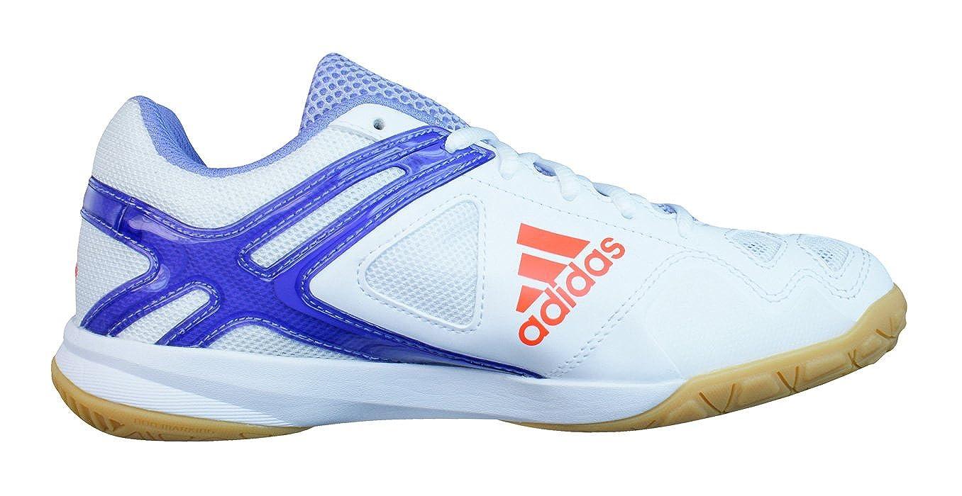adidas Feather Team Damen Badminton Turnschuhe Weiß White