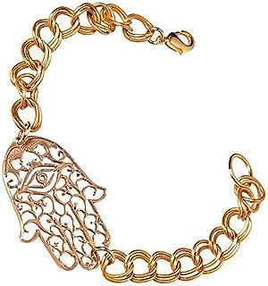 product image for Hamsa Peace Bronze Link Bracelet