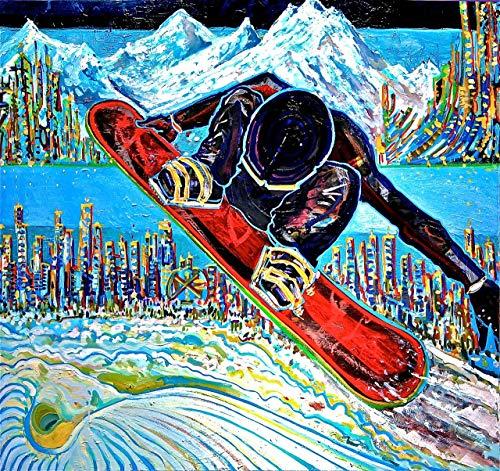 Stevenski Brewster Snowboard #1 Painting - 18