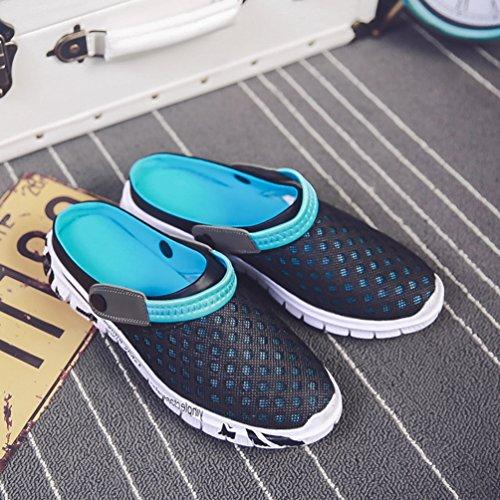 Zapatos Azul Negro Caminar Sandalias De Transpirable Malla Casuales Zapatillas Hombres Los Verano zfgn7qRxww