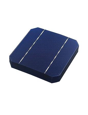 VIKOCELL 40Pcs 2.8W A Grade 125MM Monocrystalline Solar Cells 5×5 for DIY Solar Panel 100W