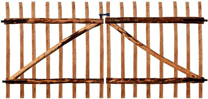 Cancello doble para recizione (madera de nogal 300 x 150 cm).Questo Libro del Cancela Sono robusto y seguro Cancela Jardín Nice Puerta Puerta Jardín Garaje Exterior: Amazon.es: Bricolaje y herramientas