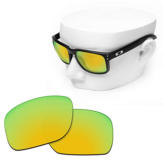 4ee501a2d9 Image Unavailable. Image not available for. Color  OOWLIT Replacement  Sunglass Lenses for Oakley Holbrook 24K Non-polarized