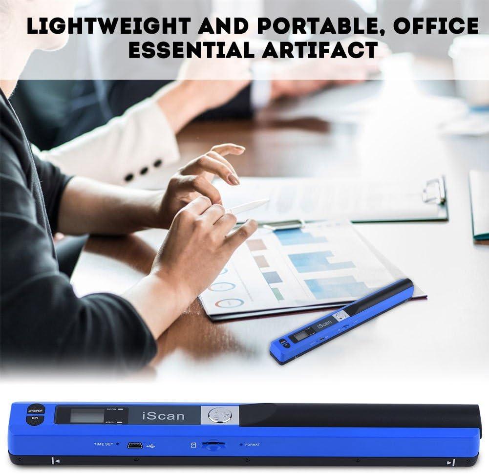 Blue Portable Scanner 900DPI Aufl/ösung Mobile Farbe Dokumentenscanner,Wireless Tragbarer A4 Scanner Visitenkartenscanner JPG und PDF Format Schwarz//Blau Richer-R Handscanner