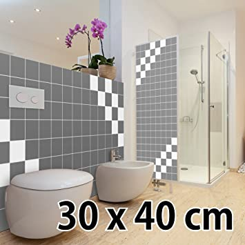 malango® Fliesenaufkleber 30 x 40 cm Klebefliesen Fliesendekor Bad ...