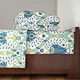 Roostery Persian 3pc Sheet Set Serpentine 774 by Muhlenkott Twin Sheet Set made with