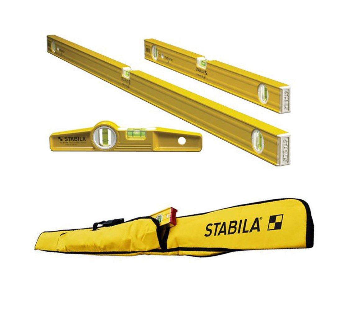 Stabila 3-Level Magnetic Pro-Set with 5-Pocket Case for Torpedo Level