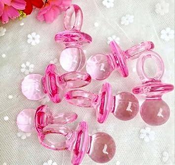 CHSYOO 100 x Set de Chupete Mini Deco, Decoración de Mesa de Confeti Confeti Streudeko Regalo de Regalo para Bautizo de Babyshower Baby Shower ...