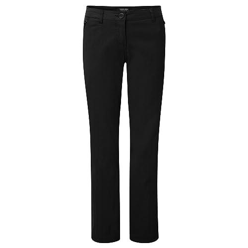 Craghoppers - Pantalones elásticos modelo Kiwi para mujer (48R/Negro)