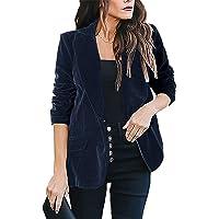 kenoce Womens Casual Basic Work Office Blazer Elegant Long Sleeve Open Front Cardigan Jacket