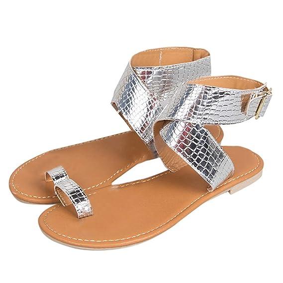 Mealeaf - Sandalias de Playa para Mujer, con Correa Cruzada ...