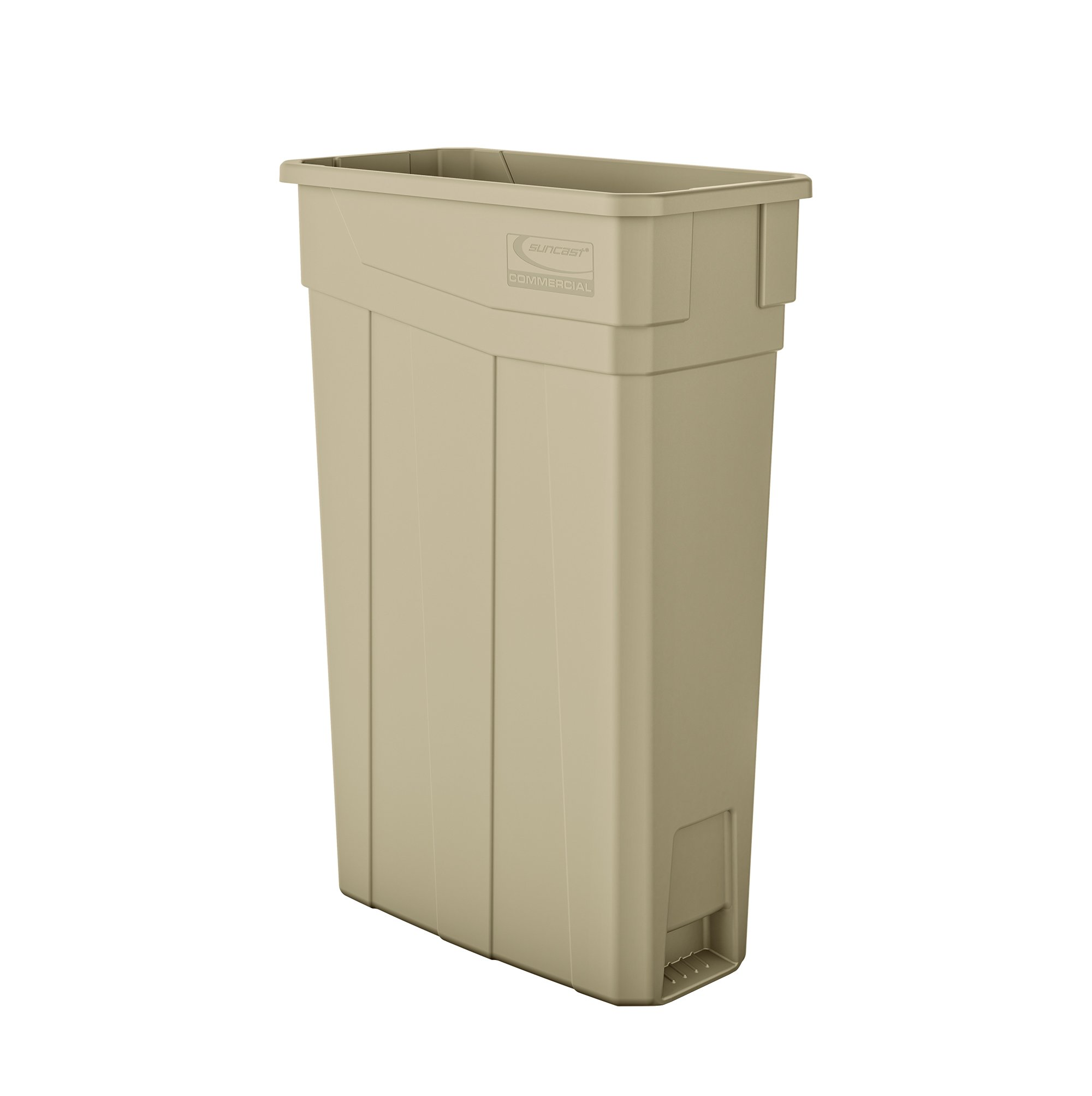 Suncast Commercial TCN2030S Narrow Trash Can Without Handles, 30.00'' Height x 11.08'' Width, 23 gal Capacity, Sand by Suncast Commercial