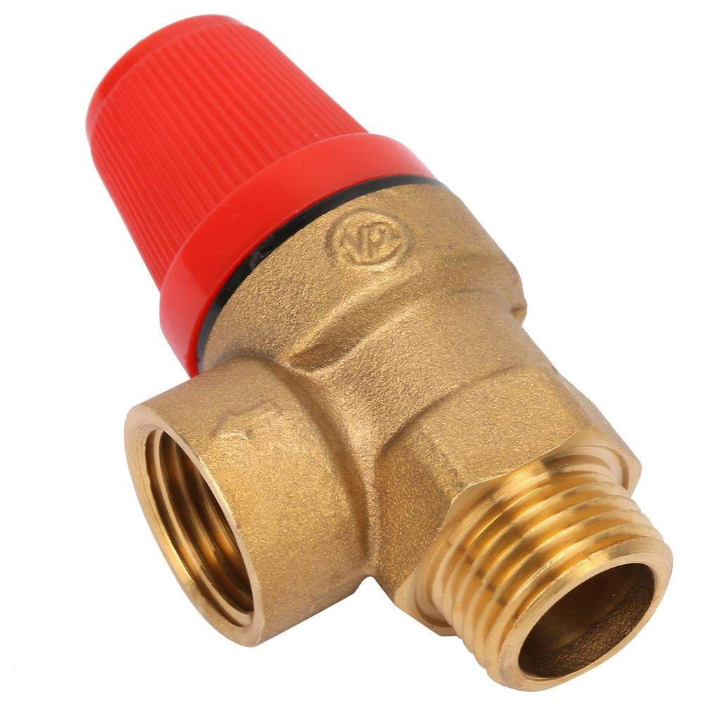 DN15 Thread Spring Hanging Furnace Safety Valve 1# Safety Relief Valve G1//2 Premium Brass Safety Valve