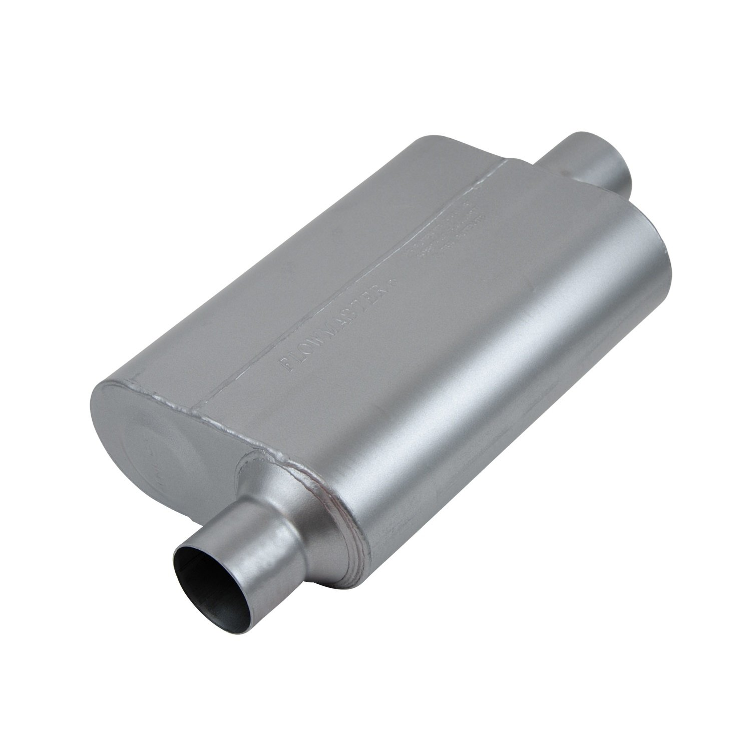 Flowmaster 842546 Super 44 Series Muffler 409S Aggressive Sound 2.50 Offset IN//2.50 Center OUT