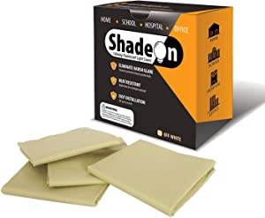 ShadeOn Fluorescent Light Filters Diffuser - (4 Set Pack) Cozy Ceiling Covers Softening Flourescent Harsh Glare | Best for School, Classroom, Educational Spaces, Office and Hospital (Off-White)