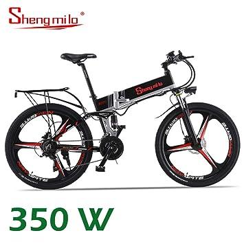 Shengmilo Bicicleta Plegable Eléctrica, Shimano 21 Speed ...