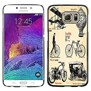 Dragon Case - FOR Samsung Galaxy S6 - Very creative bike - Caja protectora de pl??stico duro de la cubierta Dise?¡Ào Slim Fit