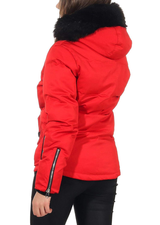 Malito Donna Giacca Invernale Cappa Alimentato Pelliccia JF1841