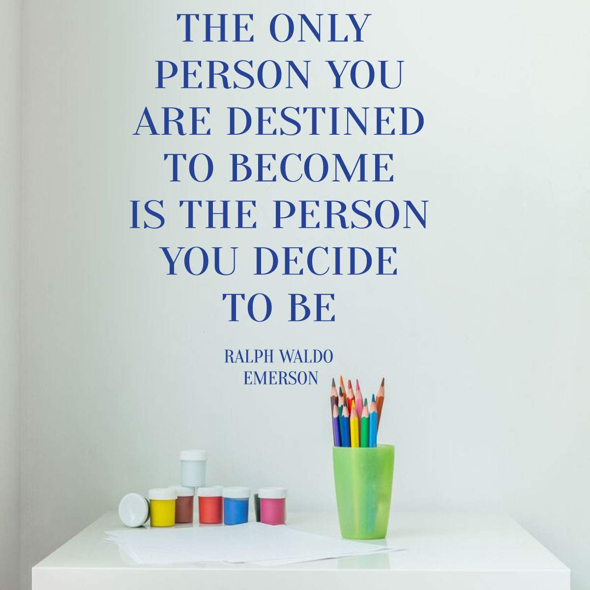 Ralph Waldo Emerson Motivational Quote Decor - Living Room, Bedroom or Office - Large, Medium and Small Sizes