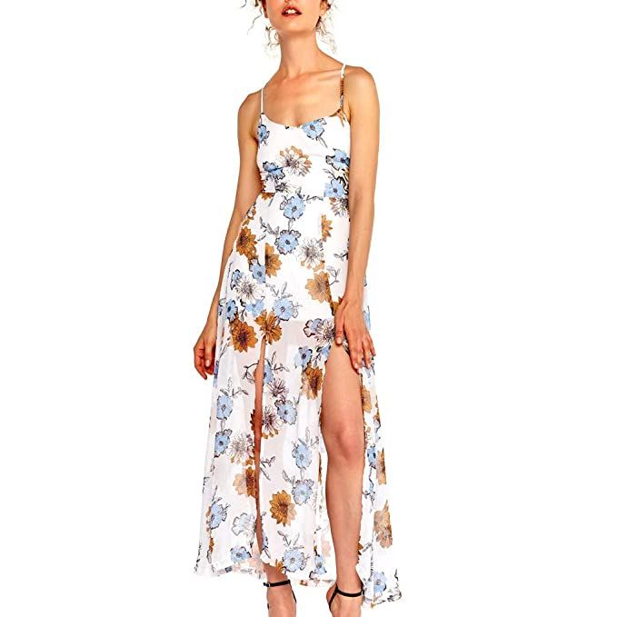 Mosstars Vestido Largo Mujer Boho Falda Viaje de señora ...