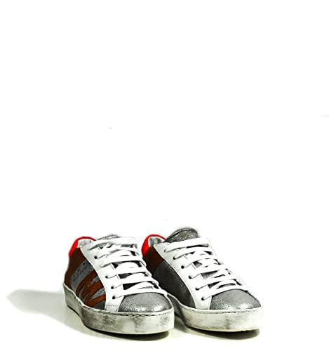on sale 96d10 ee913 MANILA GRACE Calzature Donna Sneaker in Pelle con Logo ...
