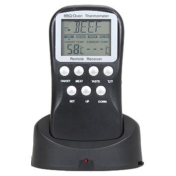 demiawaking Wireless Digital BBQ Barbacoa Termómetro Cocina del Horno Horno Termómetro Termómetro Barbacoa Termómetro con 8