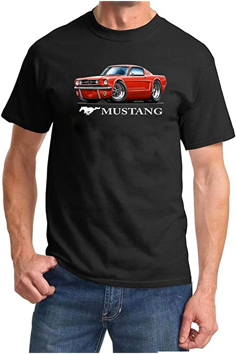 JL Speed Illustration For A Ford 1966 Mustang Convertible Motorcar Fan LS-Tshirt