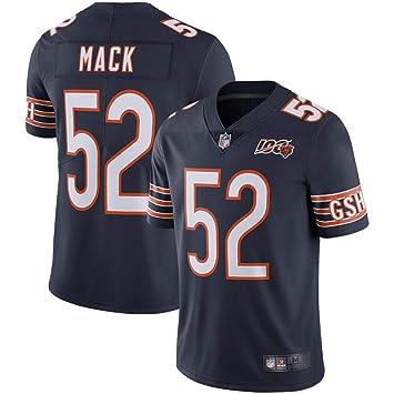 huge discount bcada 251ab Men's Khalil Mack #52 Chicago Bears 100th Season Limited Navy Jersey