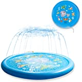 """Sanwotech Splash Pad Sprinklers for Kids,Water Toys for Kids Outdoor Learning ,Inflatable 68"""" Sprinkler Play Mat Baby Pool fo"""