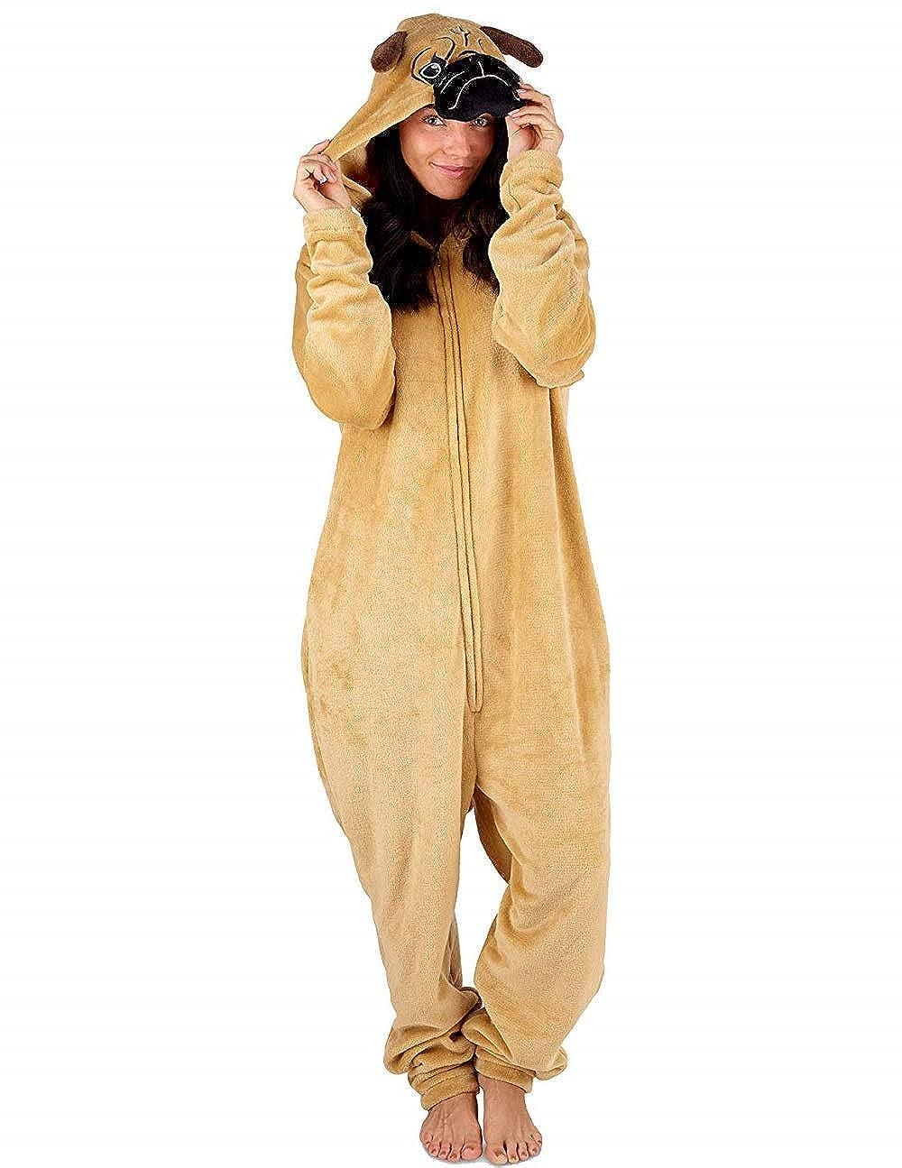 M, Mops perfekte Einhorn Geschenke Dieses Jahr CityComfort Einhorn M/ädchen Damen Onesies oder Pyjamas mit Flauschigen Einhorn Hausschuhe Damen PJs Pyjama Bottoms Set