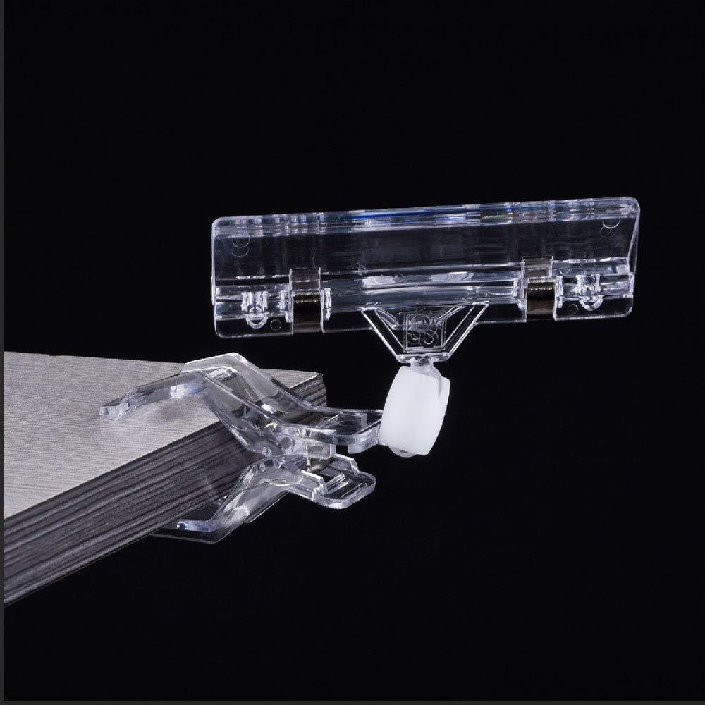 clips en plastique en plastique clip /à clipser Porte-/étiquettes /à clipser en plastique transparent porte-affiches paquet de 20