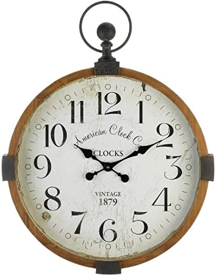 Vintage Industrial Wall Clock 23.75×30.5×3″