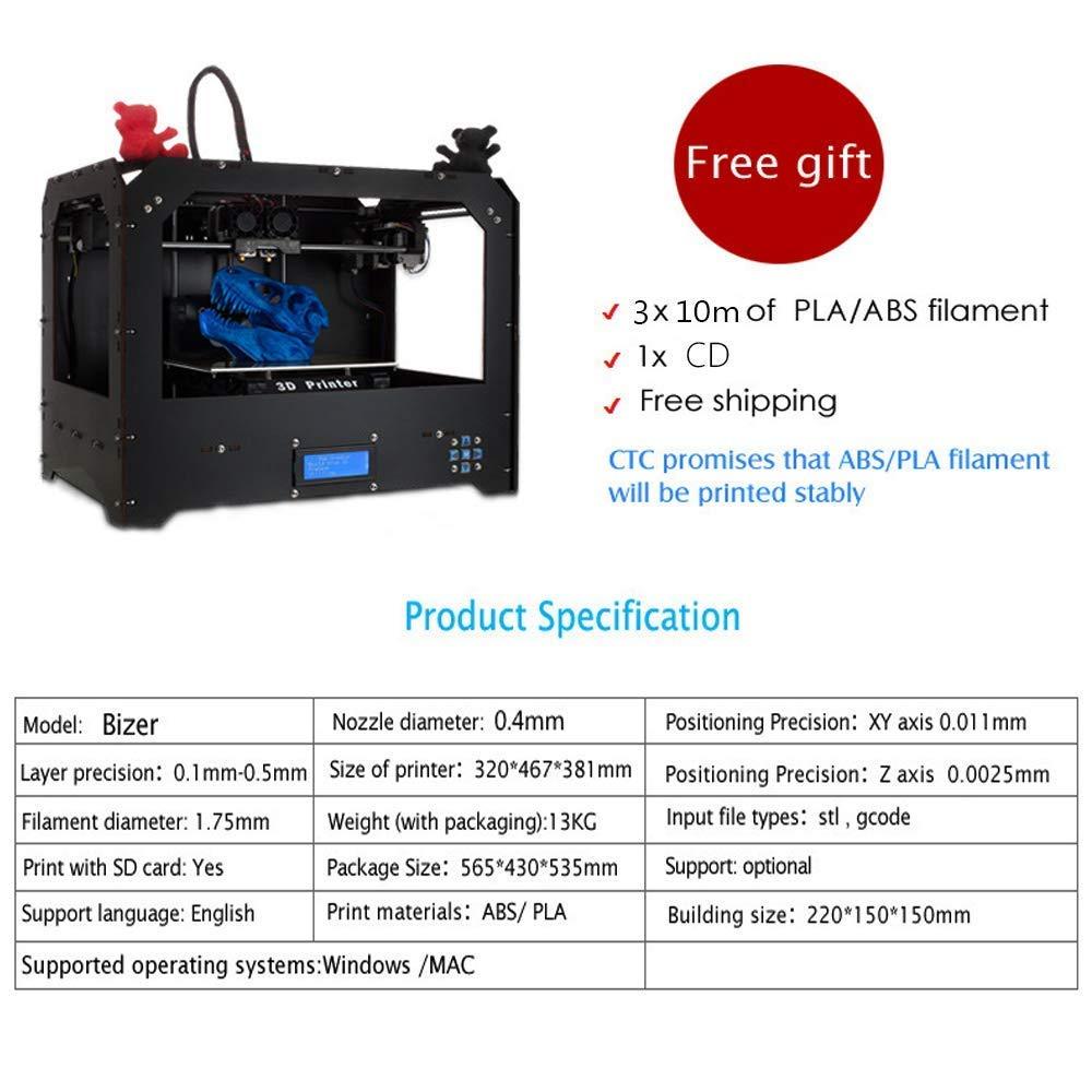 Impresora 3d, lionpore FDM Dual extruder pantalla LCD Desktop ...