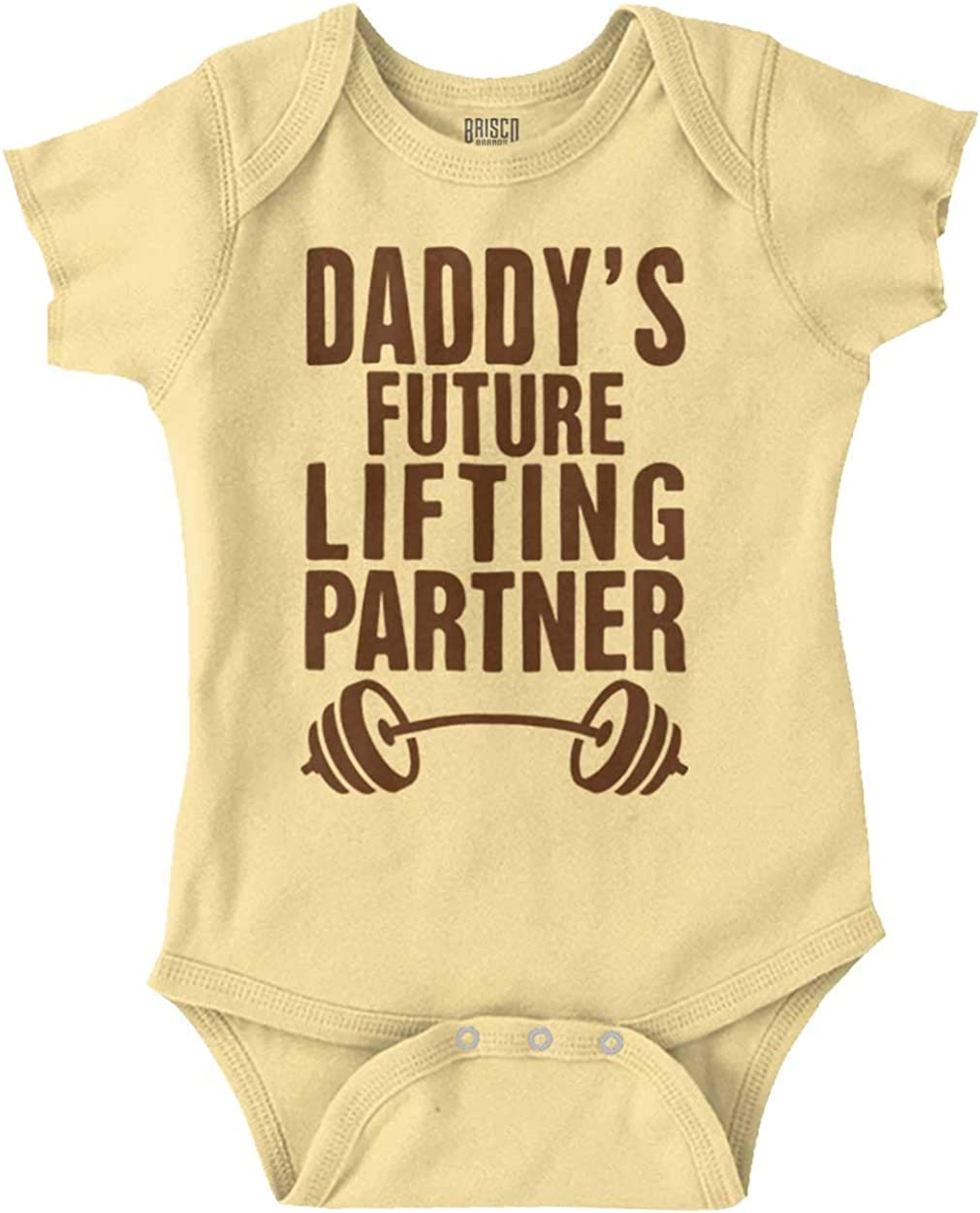 Brisco Brands Daddys Future Lifting Partner Athletic Baby Baby Romper Bodysuits