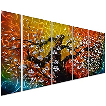 Amazon Com Black And White Tree Of Life Metal Wall Art 50 Quot X 24 Quot Abstract Sculpture