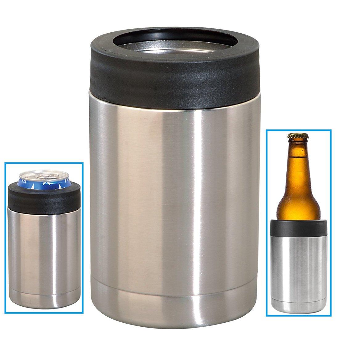 INIBUD 保冷 缶ホルダー 缶クーラー ドリンクホルダー 真空断熱 ステンレス
