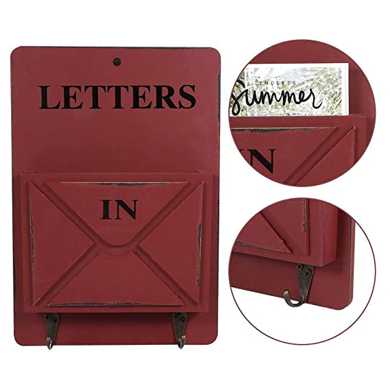 Amazon.com: Letter Rack,Wood Creative Retro Durable Wall ...