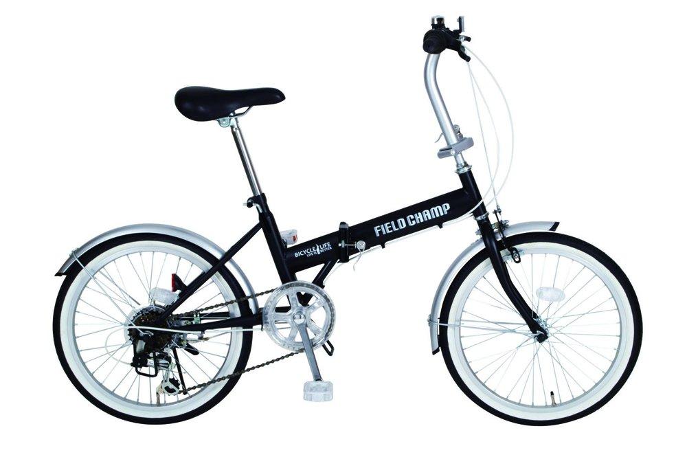 FIELD CHAMP (フィールドチャンプ) 20インチ 折畳自転車 ブラック B07D7LT7PW