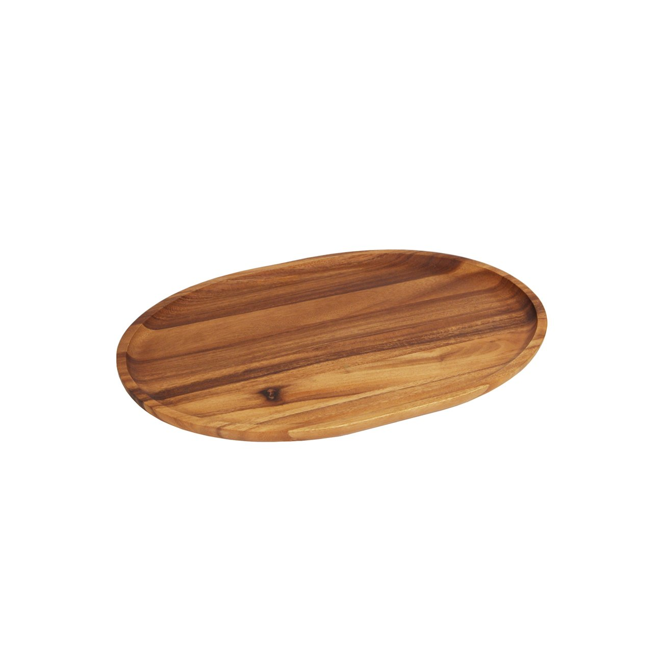 Woodard & Charles 10-Inch Acacia Oval Tray, Small Woodard and Charles WTT240S