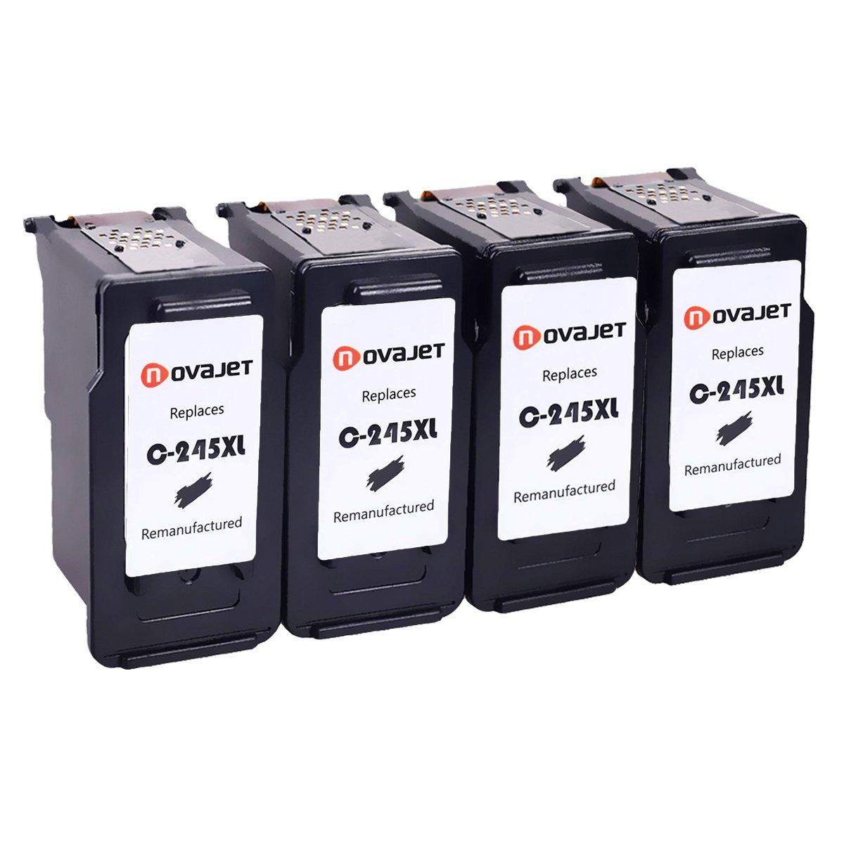 【お買得!】 Novajet PG Remanufactured mx490 for Canon PG - for 245 X L PG 245 XLインクカートリッジ高Yield ( 4ブラック)は、正確なインクレベルで使用Canon Pixma mg2520 mg2522 mg2920 mg2922 mg2924 mg2420 mx490 mx492 ip2820プリンタ B078NR2HVW, チクゴシ:ac852fd8 --- diceanalytics.pk