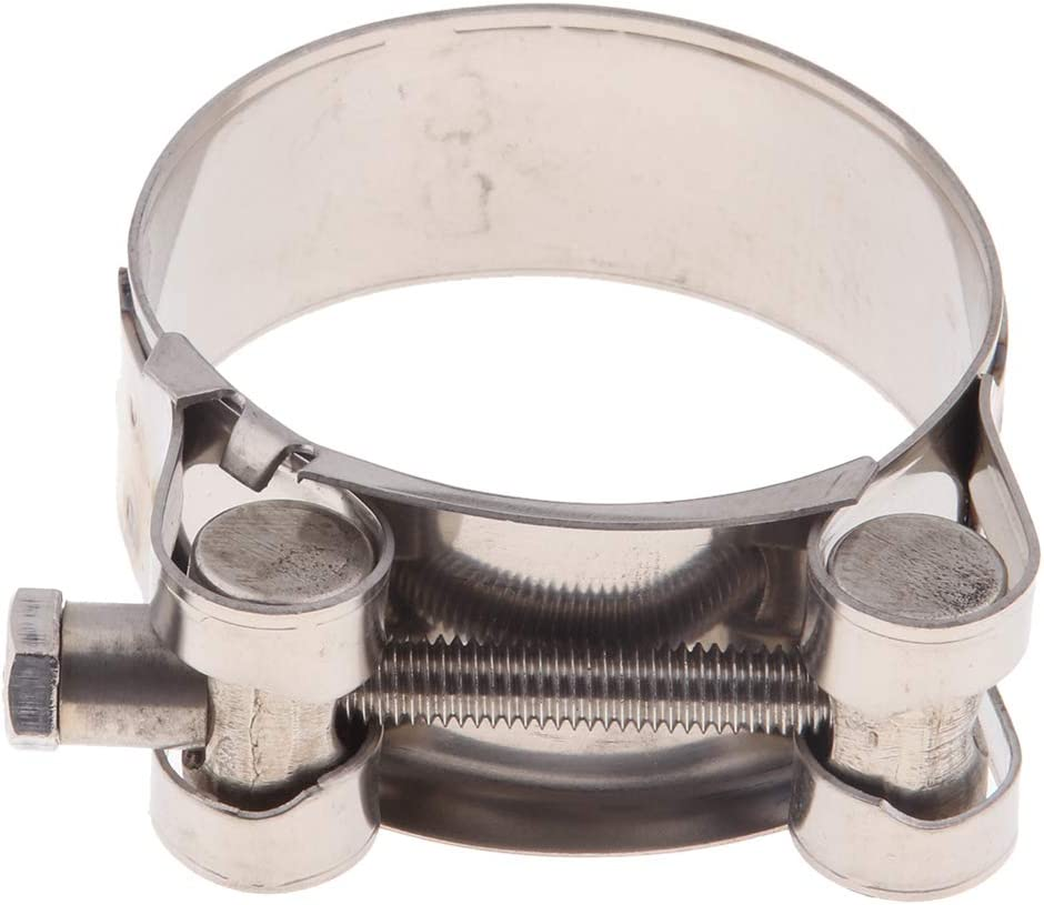 40-43mm Homyl Attache De Pince D/échappement pour Moteur en Acier Inoxydable