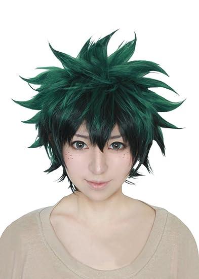 Amazon.com  Cfalaicos My Hero Academia Boku no Hiro Akademia Izuku Midoriya Cosplay  Wigs (Need Style by Yourself)  Beauty 753d6fecf