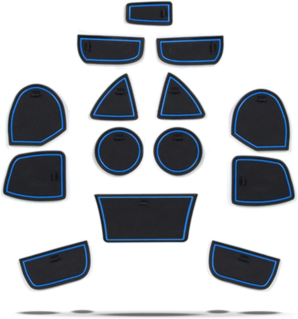 RUIYA Grand Cherokee WK2 2013-2018 Tappetino Antiscivolo per Tappetini in Gomma Tappetini Antiscivolo Realizzato in Lattice di Alta qualit/à【Blu】
