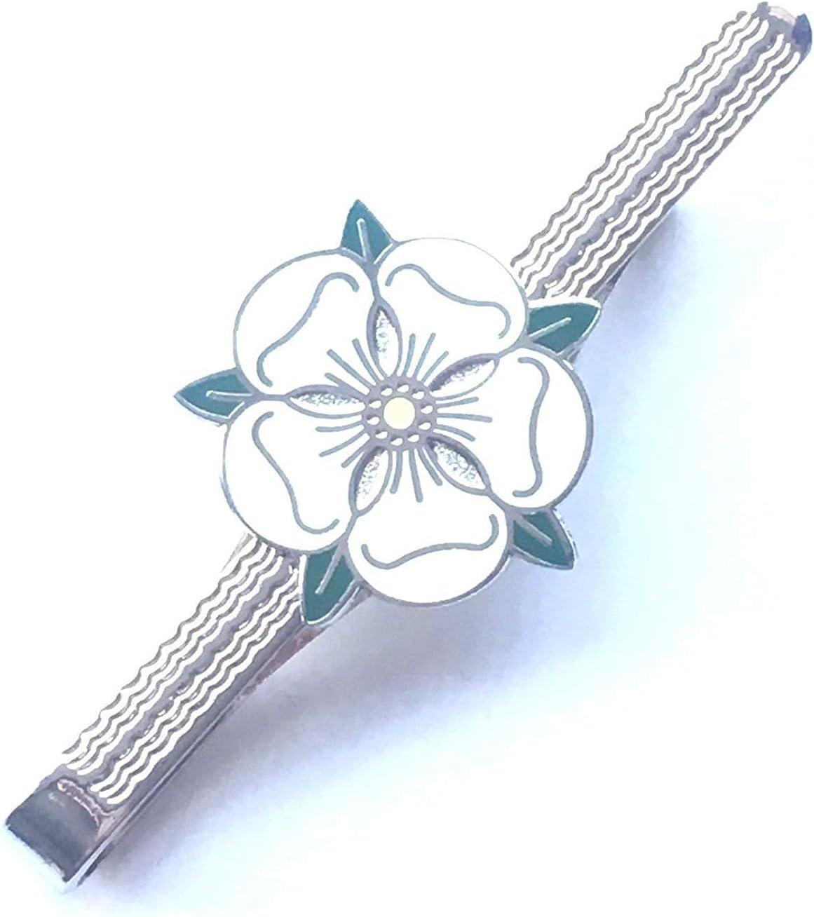EN CAJA DE REGALO Yorkshire Rosa blanca esmaltado con Escudo ALFILER DE CORBATA (N9): Amazon.es: Hogar