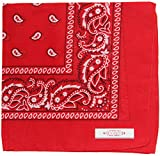 Soophen Paisley One Dozen Cowboy Bandanas (Red 22 X 22 in , 12-Pack)