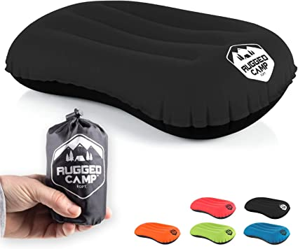 Neck /& Lumbar Support for Camping Backpacking Acehome Inflatable Camp Pillow Compressible Camping Pillow Portable Ergonomic Ultralight Inflating Air Pillow with Storage Bag Hiking Sleeping