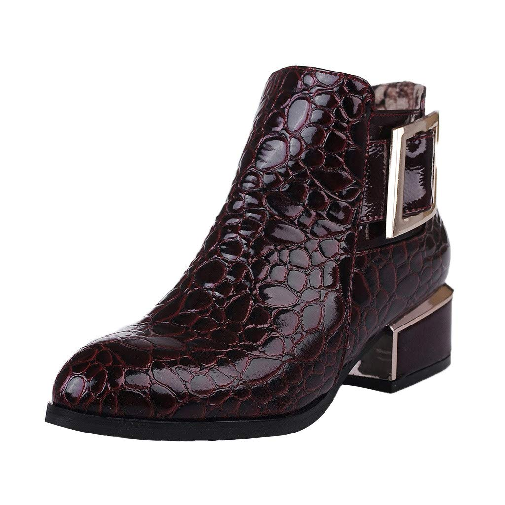 Dermanony Women's Leather Ankle Boots England