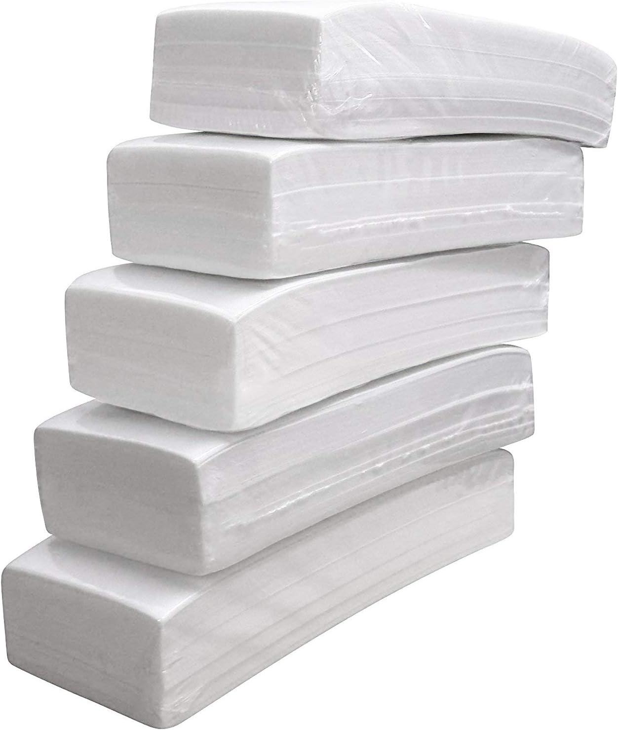 Crisnails - Bandas de Papel para Depilación con Cera, 5 Paquetes (500 Unidades)