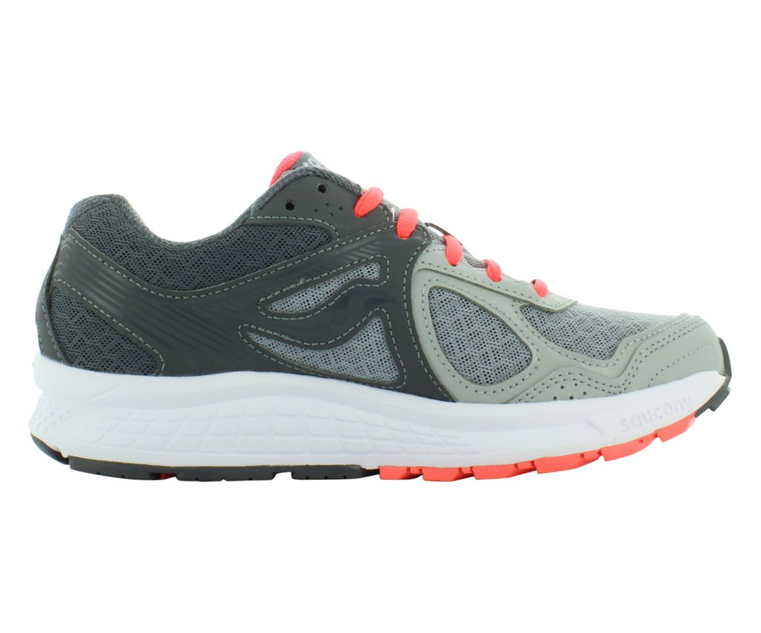 Saucony Women's Grid Cohesion 10 Grey/Coral Ankle-High Running Shoe - 9.5M by Saucony (Image #3)