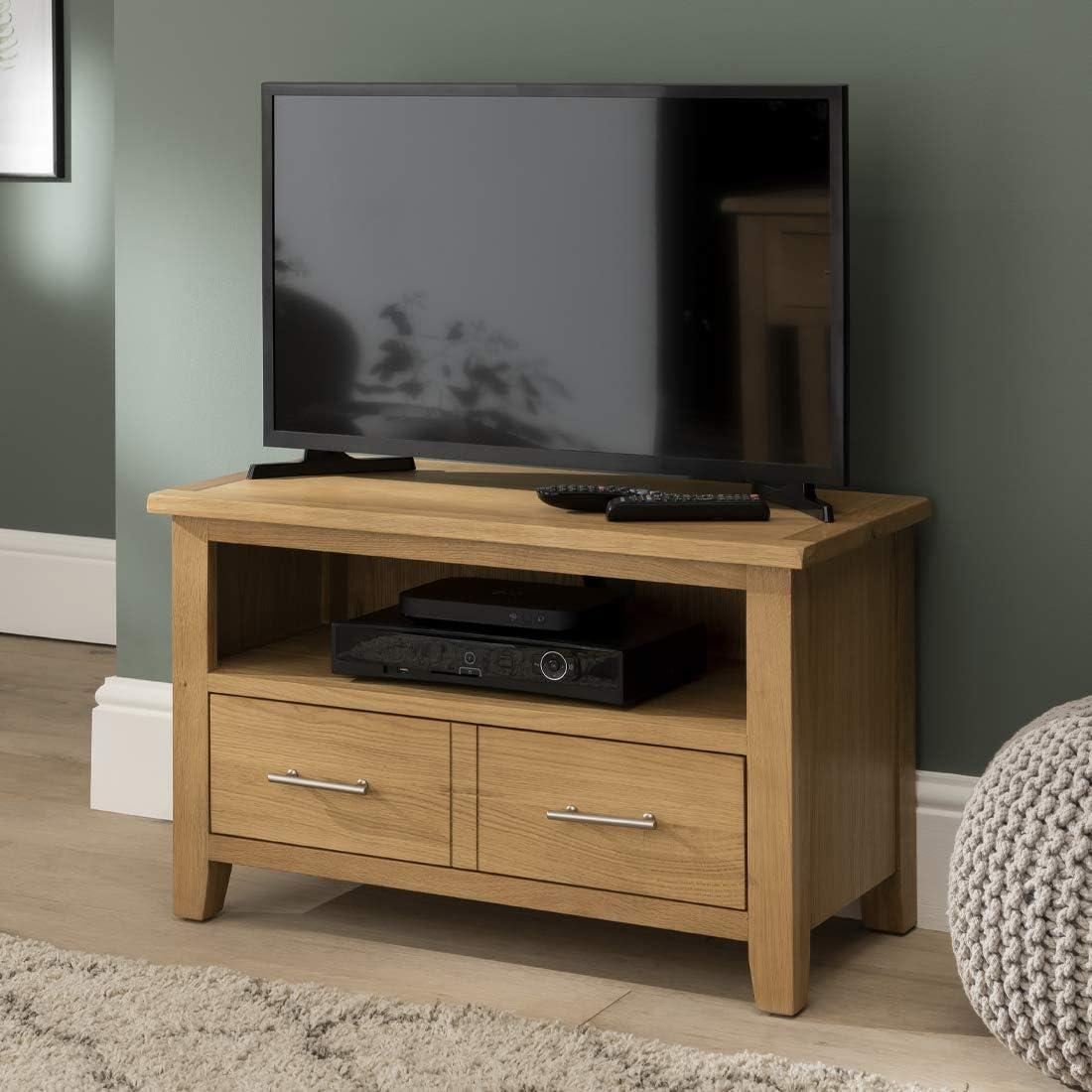 Nebraska Oak - Mueble pequeño para TV, Plasma, DVD y vídeo, montado: Amazon.es: Hogar